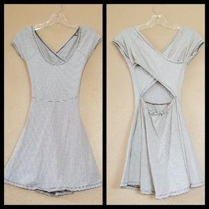 Brandy Melville Black/White Striped Dress